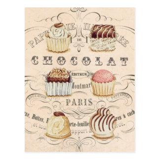 Cartão de Chocolat do vintage…
