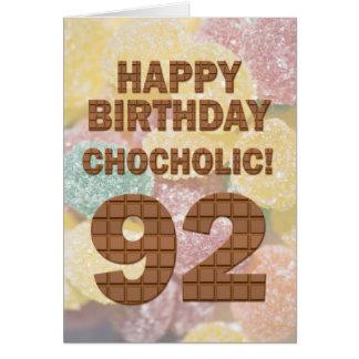 Cartão de Chocololic 92ndBirthday