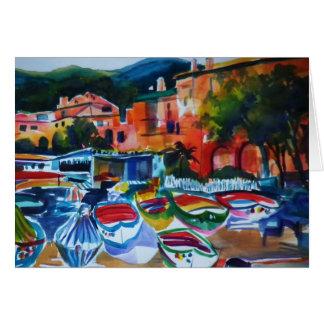 Cartão de Cinque Terre Italia