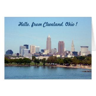 Cartão de Cleveland Ohio da opinião do lago