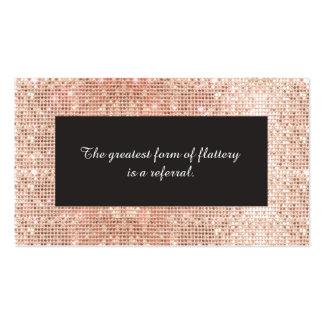Cartão de cobre da referência da cosmetologia dos cartão de visita