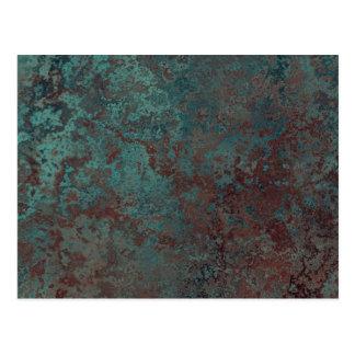 """Cartão """"de cobre"""" do impressão da corrosão"""