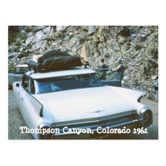 Cartão de Colorado da garganta de Thompson