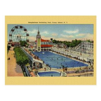 Cartão de Coney Island New York do vintage