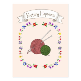 Cartão de confecção de malhas da felicidade para o
