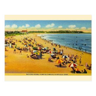 Cartão de Connecticut da praia de Fairfield do