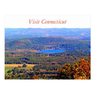 Cartão de Connecticut da visita