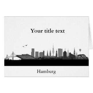 Cartão de convite com Hamburgo Skyline.