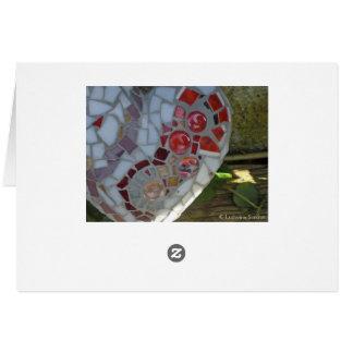 cartão de coração de vermelho de em mosaico