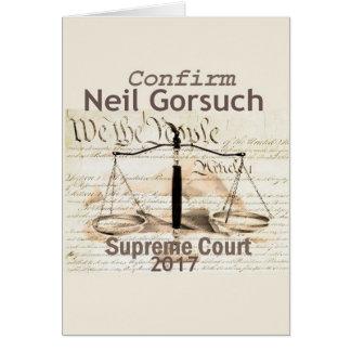 Cartão de corte suprema de Neil GORSUCH