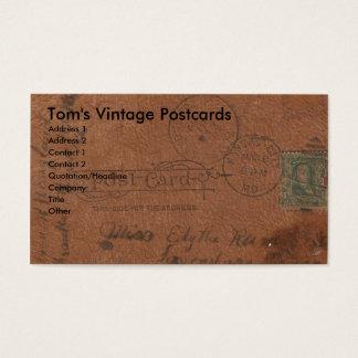 Cartão de couro do vintage