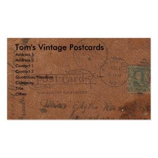 Cartão de couro do vintage cartão de visita