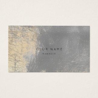 Cartão de couro metálico da nomeação do abstrato