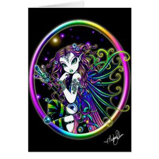 Cartão de cristal da fada do arco-íris de Lucida