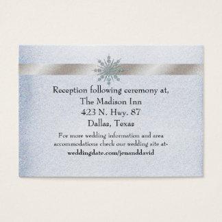 Cartão de cristal do cerco do casamento no inverno
