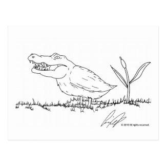Cartão de Crocoduck Cartão Postal