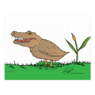 Cartão de Crocoduck na cor! Cartao Postal