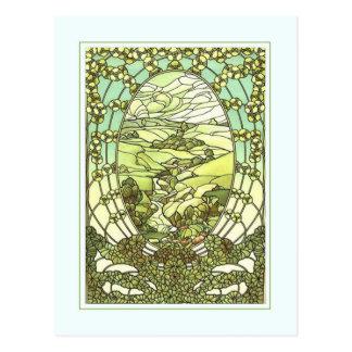 Cartão de cumprimento do design do nouveau da arte