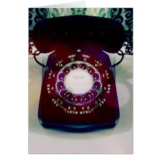 Cartão de cumprimento do telefone do vintage