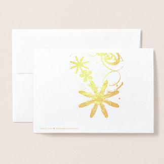 Cartão de cumprimento feliz da folha do
