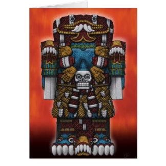 Cartão de cumprimentos asteca