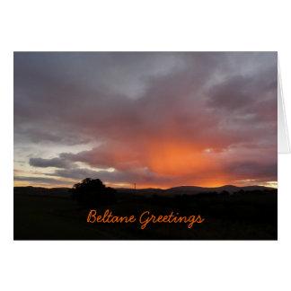 """Cartão De """"cumprimentos Beltane """""""