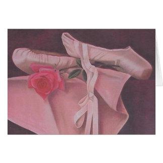Cartão de cumprimentos bonito da bailarina de prim