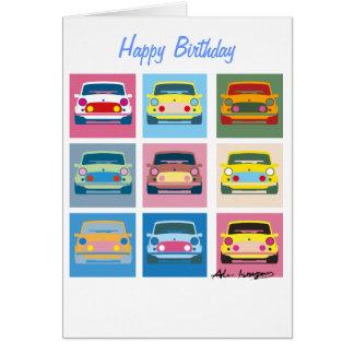 Cartão de cumprimentos clássico do carro