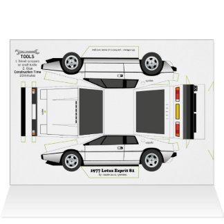 Cartão de cumprimentos clássico do carro de Esprit