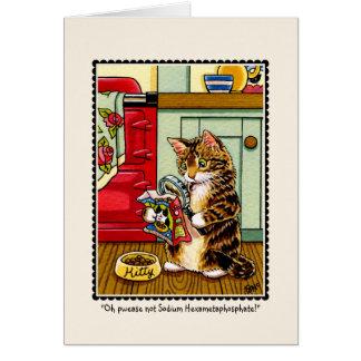 Cartão de cumprimentos consciente do gato do