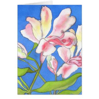 Cartão de cumprimentos cor-de-rosa do Alstroemeria
