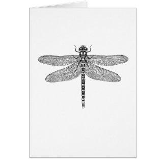 Cartão de cumprimentos da arte da libélula - boa