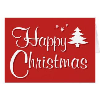 Cartão de cumprimentos da árvore de Natal feliz