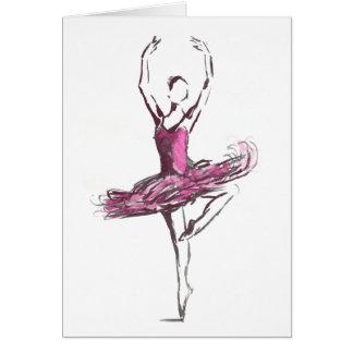 Cartão de cumprimentos da bailarina