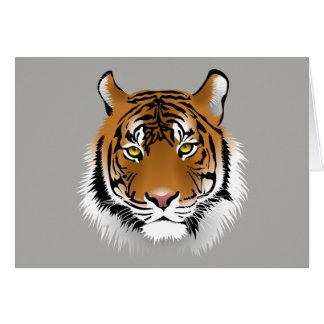 Cartão de cumprimentos da cara do tigre