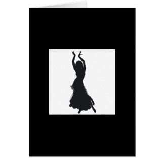 cartão de cumprimentos da dança do ventre