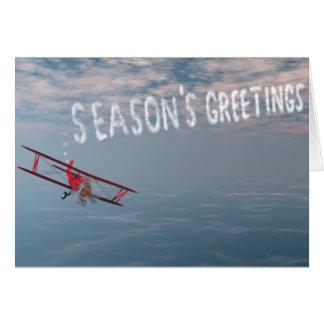 Cartão de cumprimentos da estação de Skywriting