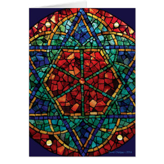 Cartão de cumprimentos da estação do mosaico do