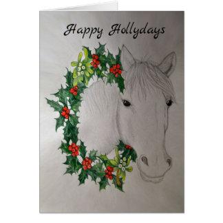 Cartão de cumprimentos da festão do Natal do