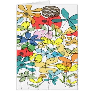 Cartão de cumprimentos da flor - colagem