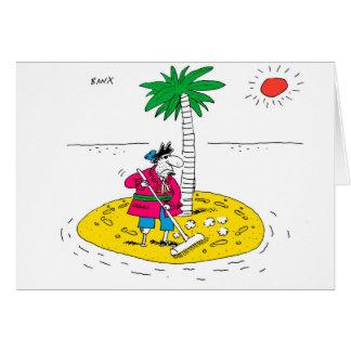 Cartão de cumprimentos da ilha de deserto
