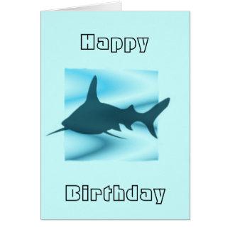 Cartão de cumprimentos da silhueta do tubarão
