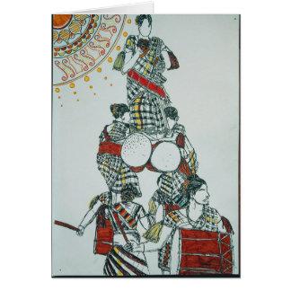 Cartão de cumprimentos das meninas de dança do