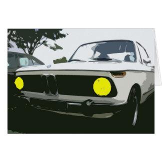 Cartão de cumprimentos de BMW
