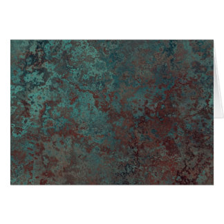 """Cartão de cumprimentos """"de cobre"""" do impressão da"""
