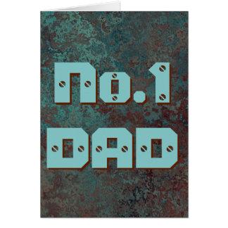 """Cartão de cumprimentos """"de cobre"""" do PAI do"""
