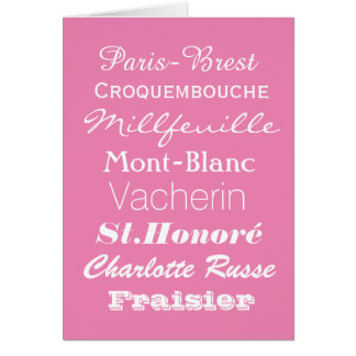 Cartão de cumprimentos de Patiserie do francês