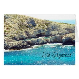Cartão de cumprimentos de Zakynthos com motivo