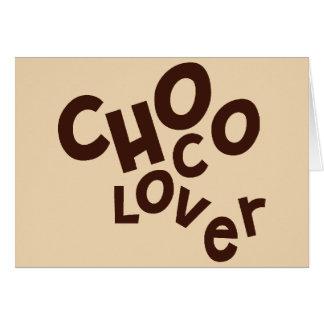 Cartão de cumprimentos do amante de Choco