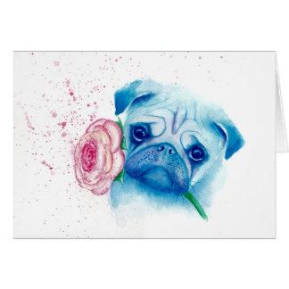 Cartão de cumprimentos do amor do Pug